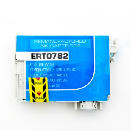 Remanufactured Epson T078220 cyan ink cartridge
