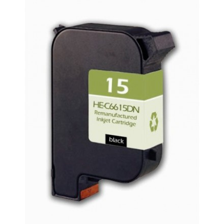 Remanufactured HP C6615D (No. 15) black ink cartridge