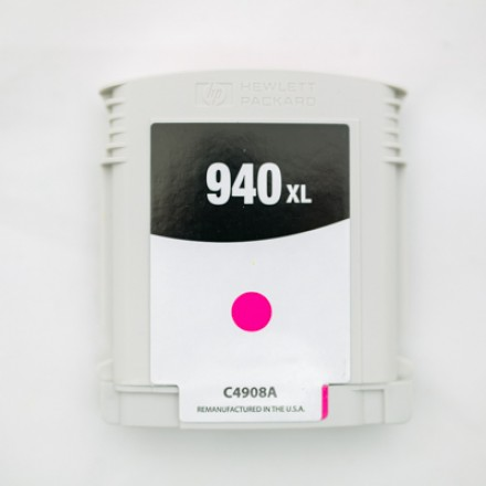 Remanufactured HP C4908AN (HP 940XL) high yield magenta ink cartridge