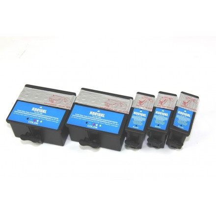 Compatible Kodak #10XL high yield ink cartridges (3 black and 2 color) value pack