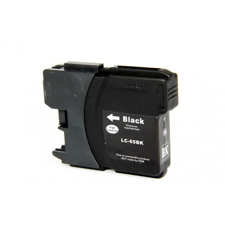Compatible Brother LC65BK black ink cartridge
