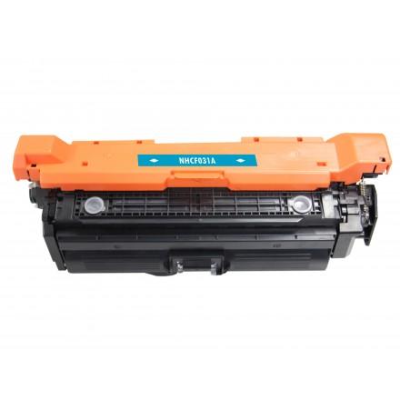 Remanufactured HP CF031A (HP 646A) cyan laser toner cartridge