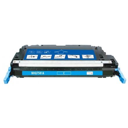 Remanufactured HP Q7581A (HP 503A) cyan laser toner cartridge