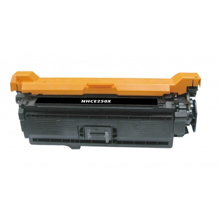 Compatible HP CE250X (HP 504X) high yield black laser toner cartridge
