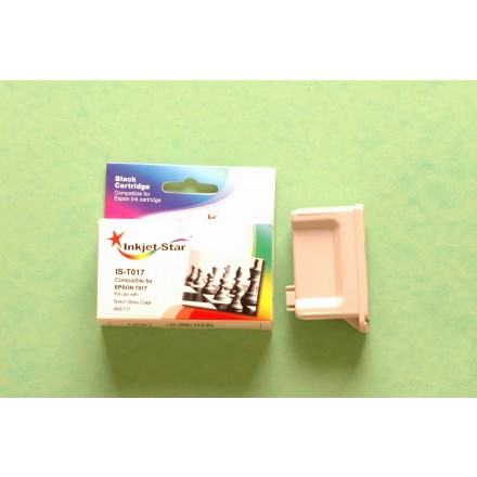 Remanufactured Epson T017201 black inkjet cartridge