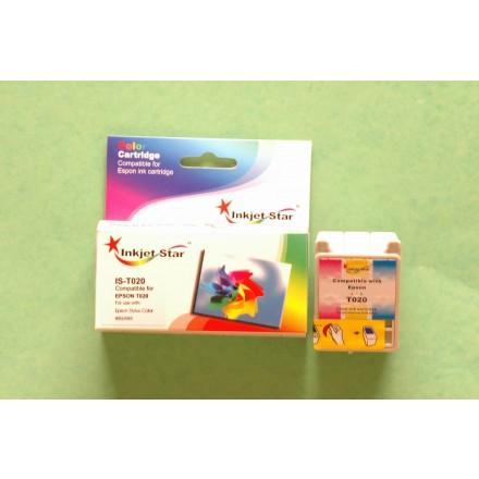 Remanufactured Epson T020201 color inkjet cartridge