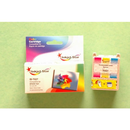 Remanufactured Epson T027201 color ink cartridge
