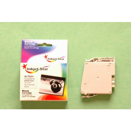 Remanufactured Epson T033120 black ink cartridge