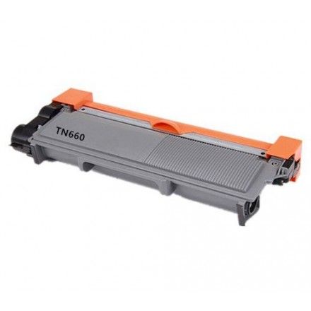 Compatible Brother TN-660 high yield (replacing TN-630 standard yield) black laser toner cartridge