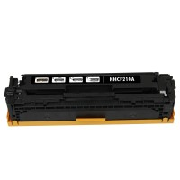 Remanufactured HP CF210A (HP 131A) black laser toner cartridge