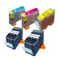 Compatible Canon BCI-3e and BCI-6 ink cartridges 12-piece bulk set (3 BCI-3eBK, 3 BCI-6BK, 2 BCI-6C, 2 BCI-6M, 2 BCI-6Y)